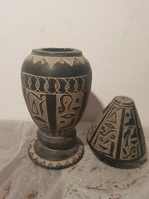 Rare Antique Ancient Egyptian Hope Vase Demons House Magic Words 1755-1670BC