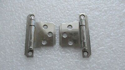 Vintage National Lock Retro Red /& Chrome Cabinet Hinges N58-2354A  Mid Century