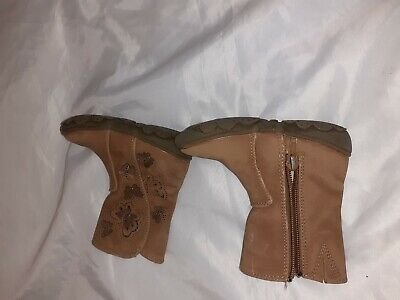 Girls Size 5 Tu Boots Brown Colour