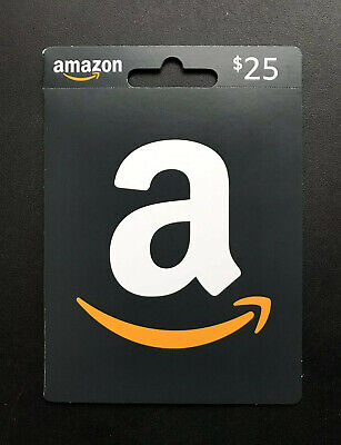 $25.00 AMAZON *Physical* Gift Card ULTRA FAST FREE SHIPPING NO Auction Reserve!