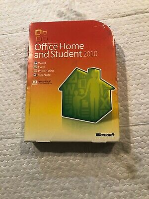 Microsoft Office 2010 Home and Student Family Pack For 3PCs with Product Key!