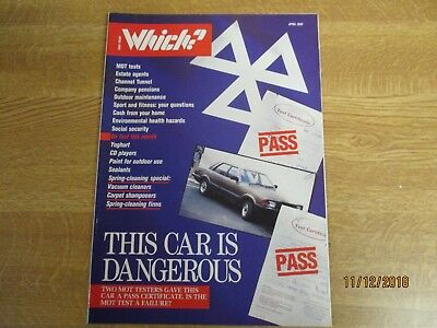 April 1989, WHICH MAGAZINE?, Mot Test, Yoghurt, Channel Tunnel, CD Players.