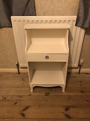 Small Telephone Table Hall Plant Stand Bedside Lamp Unit White Wood Side Drawer