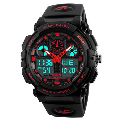 SKMEI Men's Sport Digital Alarm Date Army Quartz Analog Outdoor Watch Waterproof