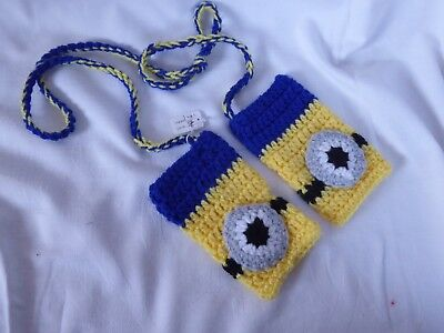 Bnwot Cute Crocheted Boys' Minionnnnn Fingerless Gloves 2 Yrs +