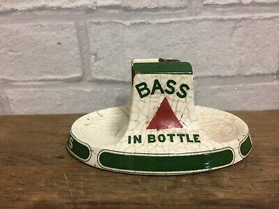 Antique Bass In A Bottle Pub Match Box Holder Made By Minton