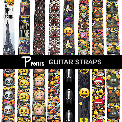 Designer Guitar Strap By Perris For Electric Acoustic Bass Or Classical Guitar