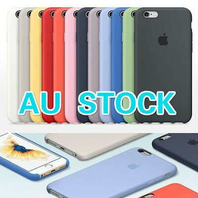 Genuine Original Ultra Thin Silicone Case Cover For A ppleiPhone X 6 6s 7 8 Plus