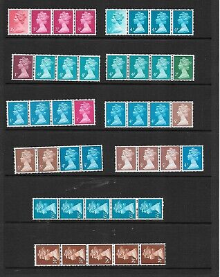 Machin - 10 x Readers Digest  & single value coil strips  - unmounted mint