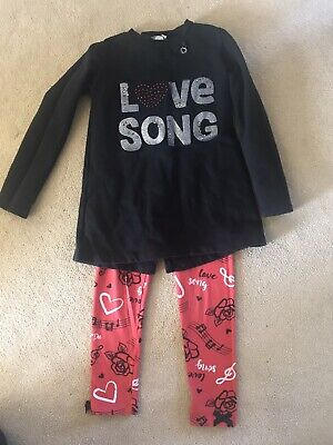 ADee Girl's Top and Leggings Outfit, Age 8 Years