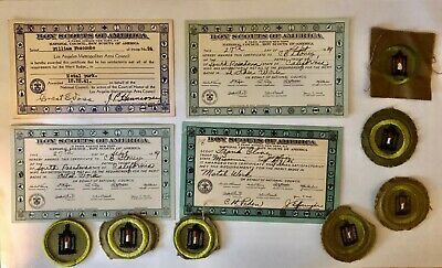 Boy Scout Metalwork Merit Badges and Cards Lot