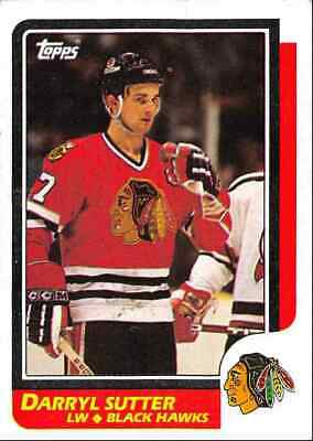 1986-87 Topps Darryl Sutter Chicago Blackhawks #49