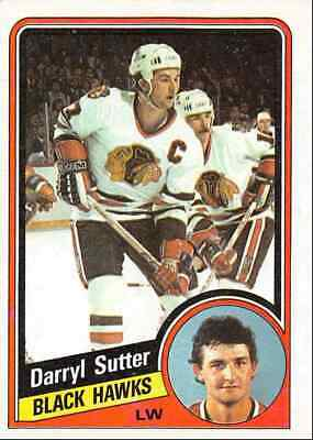 1984-85 Topps Darryl Sutter Chicago Blackhawks #36