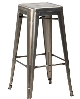 Tolix style bar stools - Metal High Stool, Home, Cafe Bistro.