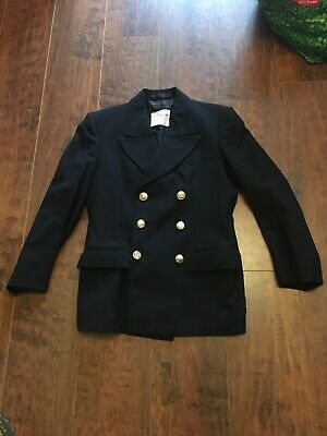 Military Naval Jacket Blazer With Various Buttons Size 170/92/76