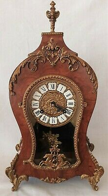 Boulle Clock Vintage Hermle 8 Day Wind Up Brass Sunburst Pendulum Made in Italy