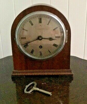Vintage Empire Mantle Clock & Key R A Jones & Sons Ltd Southend-On-Sea - Working