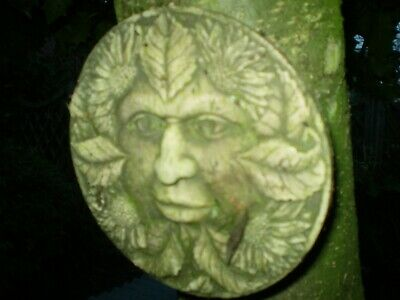 1960s Vintage French Wall Hanging Green Man,Garden architectural Reclamation