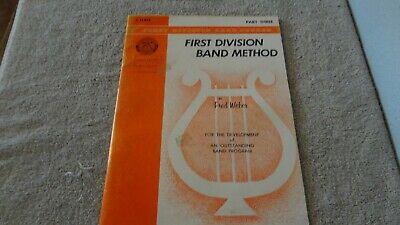 First Division Band Method (C Flute) Part 3 Fred Weber P/B 1964