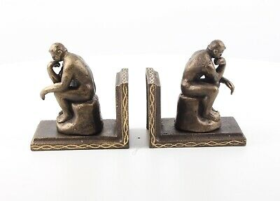 Cast Iron Pair Of Rodin Thinker Book Ends Best Quality Set Of Two See My Items
