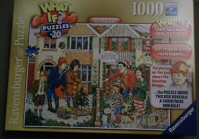 Ravensburger What If #20 Christmas Lights 1000 Piece Jigsaw Puzzle NEW
