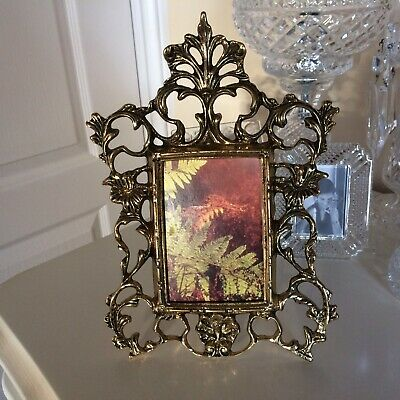 Vintage / Retro  Gilt Metal  Ornate Rococo Style,   Picture Frame Stunning