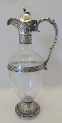 Antique 19Th Century Gorham Sterling Claret Jug Wine Decanter Stuyvesant Family