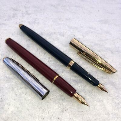 2 x VINTAGE WATERMANS FOUNTAIN PENS (1 WITH 18ct GOLD NIB)