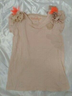 JCREW CREWCUTS Collectible T Girls Pink Organza Floral Detail Sz 6-7