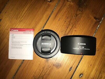 Canon EF 50mm F1.8 STM Lens with Canon Lens Hood & Warranty Card