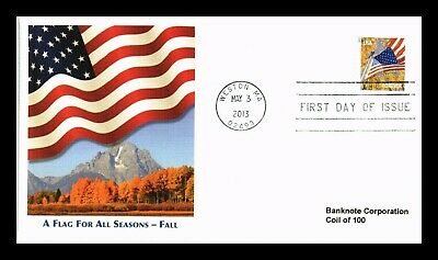 Dr Jim Stamps Us Flag For All Seasons Forever Coil Fall First Day Cover