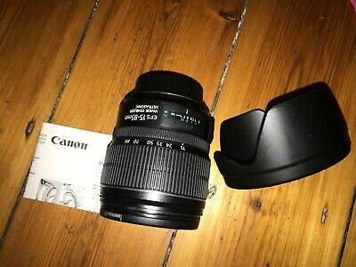 Canon EF-S IS USM 15-85mm F/3.5-5.6 + Canon Lens Hood & Manual