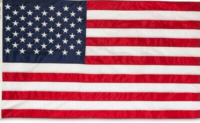 4x6 ft US American Flag Heavy Duty Embroidered Stars Sewn Stripes Grommets Nylon