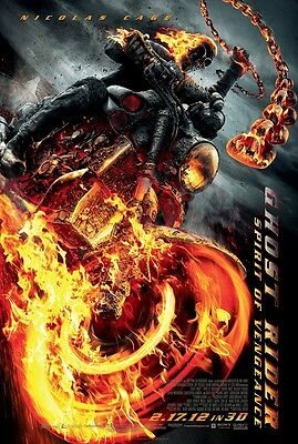 Ghost Rider Movie POSTER 27 X 40 In Deluxe Wood Frame Eva Mendes Nicolas Cage