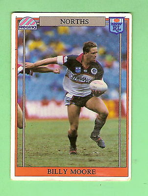 1993 North Sydney Bears  Rugby League Card #94  Billy Moore, Damaged