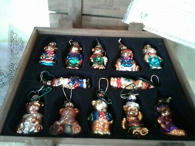 Thomas Pacconi Classics 2002 Collection 12 Christmas Bear Ornaments In Box