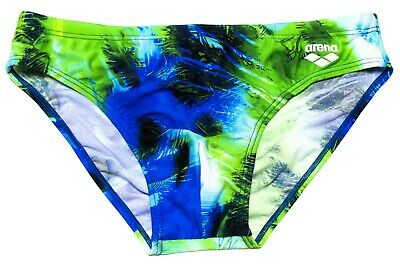 NWT ARENA PALM BRIEF (Pix Blue, Multi) Men's TRAINING MAX LIFE SIZE 34