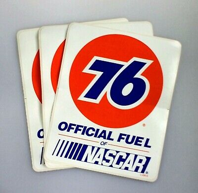 Union 76 Unocal Gasoline Official Fuel of NASCAR Lot of 3 Stickers Racing