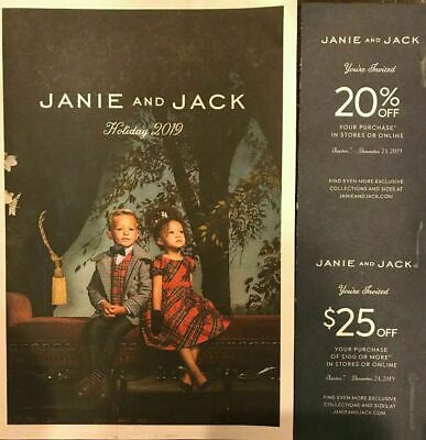 JANIE & JACK store online coupon $25 off $100 & 20% ENTIRE PURCHASE Exp 12/24
