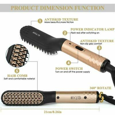 Beard Straightener Brush Men's Electric Quick Hair Straightening Comb Massage