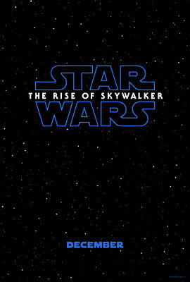 """STAR WARS RISE OF SKYWALKER 2019 Advance Ver A DS 2 Sided 27x40"""" US Movie Poster"""