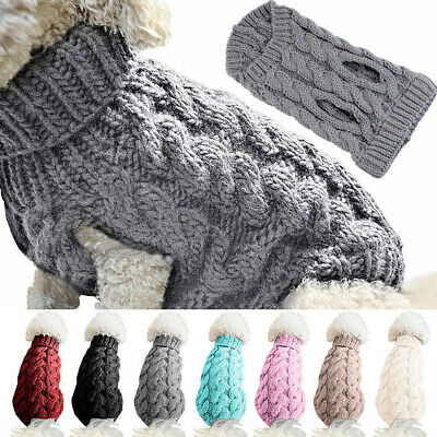 Small Dog Knitted Jacket Sweater Pet Cat Puppy Coat Clothes Warm Costume Apparel