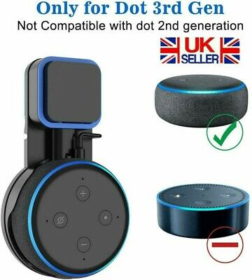 Outlet Wall Mount Holder Stand Hanger Socket For Amazon Echo Dot 3rd Generation