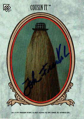 JOHN FRANKLIN - Cousin It / The Addams Family - Autograph Trading Card