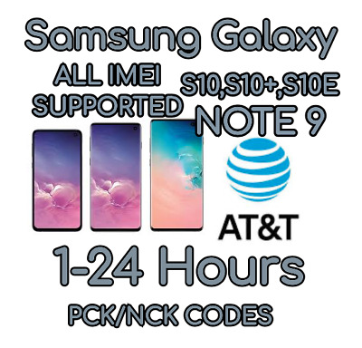 At&T Premium Unlock Code Service For At&T Samsung Galaxy Note  9 S10 S10+S10E
