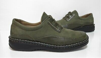 Ladies JOSEF SEIBEL Green leather Casual Shoes Size u.k 4 eu 37 Exc Cond