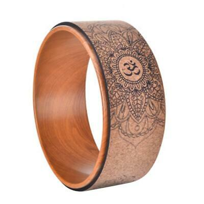 Natural Cork Yoga Wheel Fitness Wheel Hollow Improving Back Bends Stretch Pilate