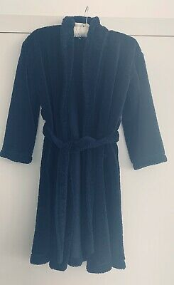 Little White Company Navy Soft Fleece Dressing Gown. Age 9-10 Yrs