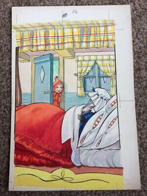 JACK and JILL ORIGINAL ILLUSTRATIONS LITTLE RED RIDING HOOD BOOK No 13  (8)