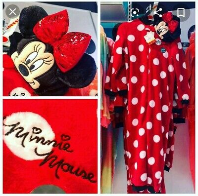 Girls PRIMARK Official MINNIE MOUSE All In One Hooded Sleep suit  BNWT